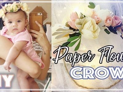 DIY: Realistic Paper Flower Crown