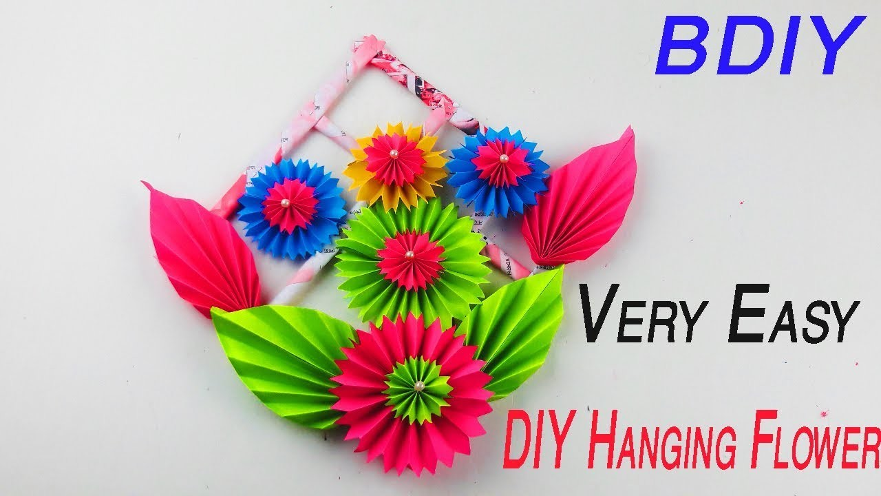 DIY ROOM DECOR Paper Flower Wall Hanging