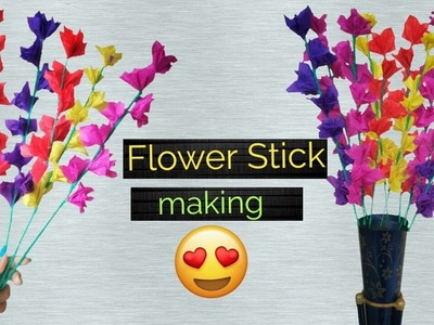 DIY Room Decoration idea! How to make Flower Stick |Paper craft