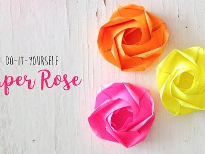 DIY Rose |  Paper Flowers | Origami Craft