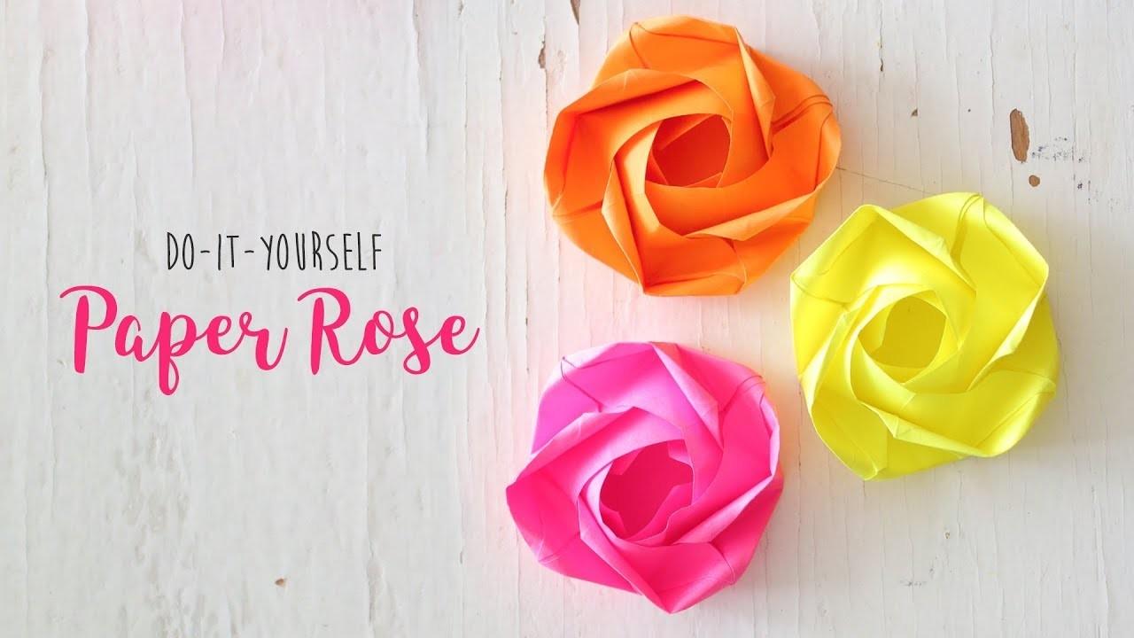 DIY Rose    Paper Flowers   Origami Craft