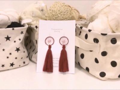 DIY Tutorial - How to make tassel dreamcatcher earring ?