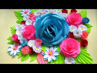 DIY. WALL DECOR IDEAS WITH PAPER. Flower Bouquet. Paper Crafts. Handmade Craft. Mother's Day