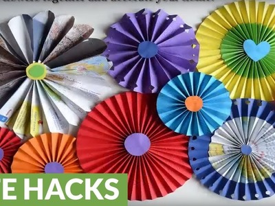 DIY wall decorations: How to make paper rosette flowers