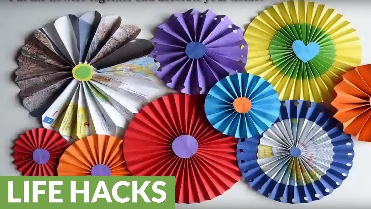Diy wall decorations how to make paper rosette flowers mightylinksfo