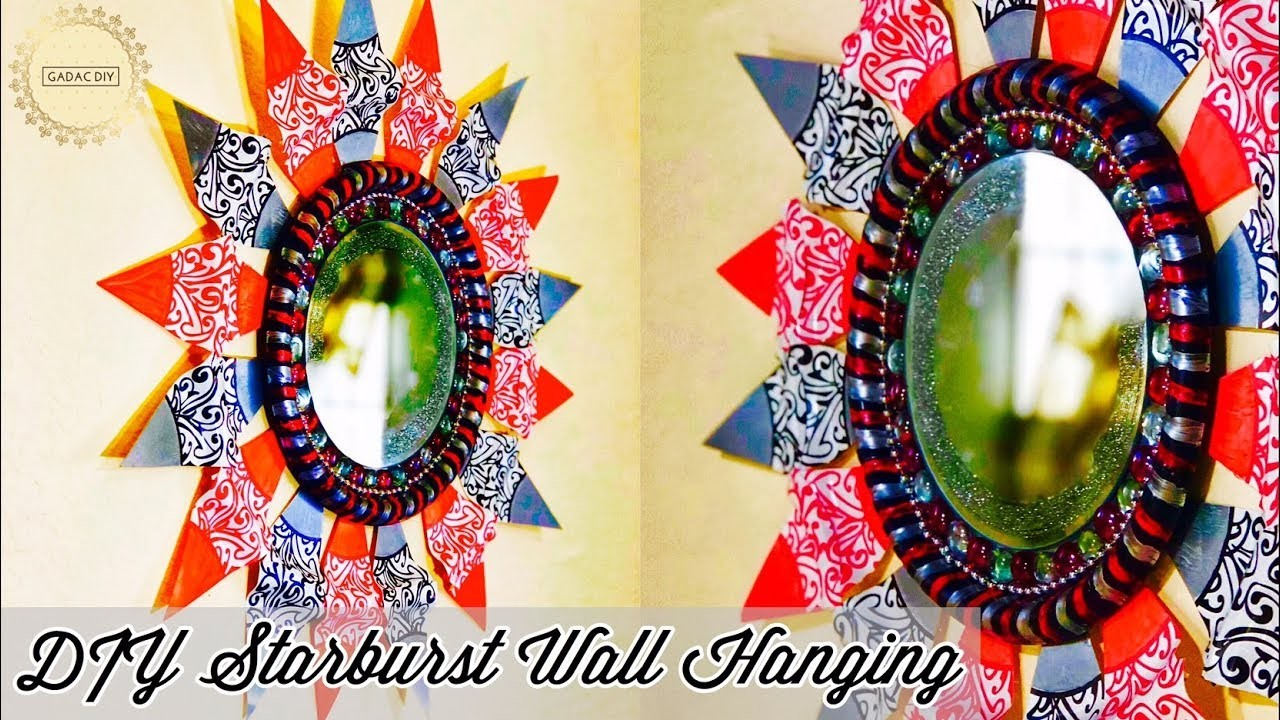 DIY Wall Hanging, wall hanging craft ideas, craft ideas for home ...