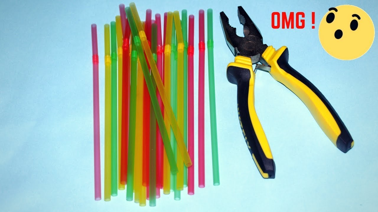 Drinking Straw Craft Idea Best Out Of Waste Drinking Straw Reuse Idea
