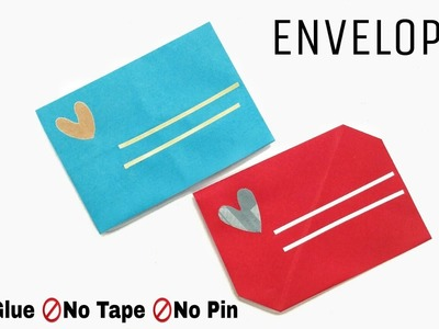 Easy 2 Envelopes  with no Glue | Cuts | Tape - DIY Origami Tutorial - 903