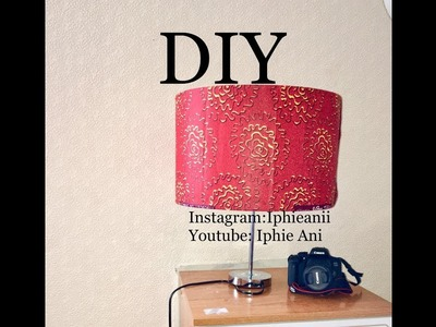 EASY DIY ANKARA LAMP | HOW TO COVER A LAMPSHADE WITH ANKARA FABRIC |IPHIE ANI