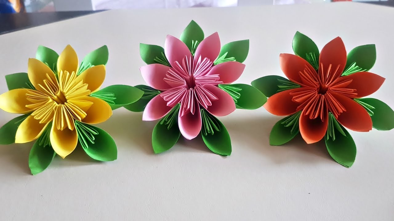 Origami Easy Origami Kusudama Flower Diy Paper Crafts Easy