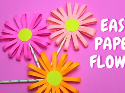Easy Paper Flower | Paper Craft | Mothers Day Craft