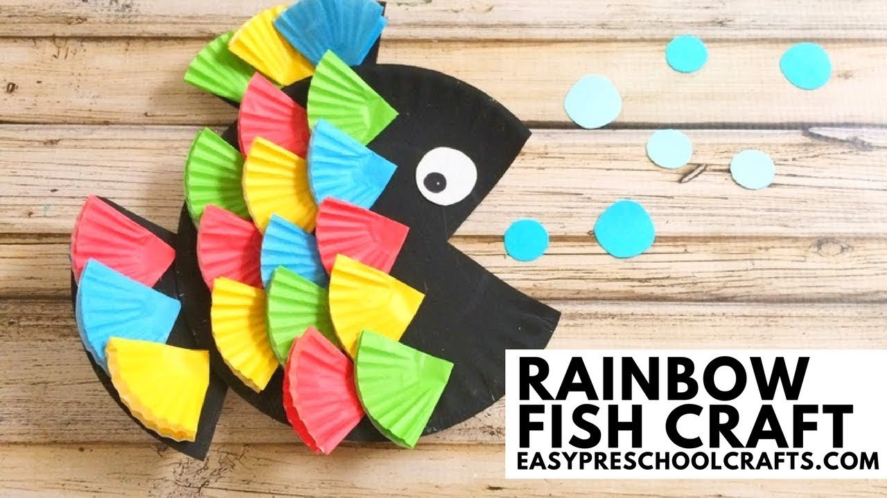 Easy Preschool Crafts Paper Plate Rainbow Fish Craft