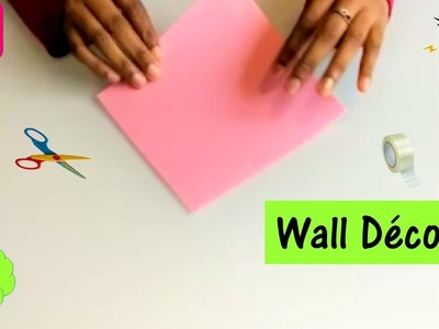 Easy wall decor idea with paper | paper craft ideas for room decoration |diy wall decor|s19creations