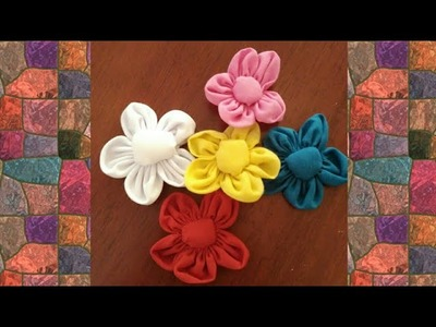 Fabric Flower.DIY.creative craft.cloth flower