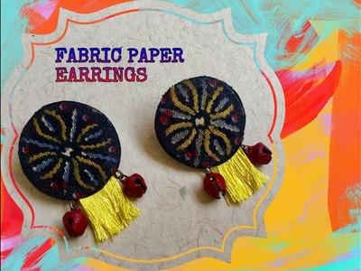 Fabric Paper Earring DIY - Jewelry Making Tutorial
