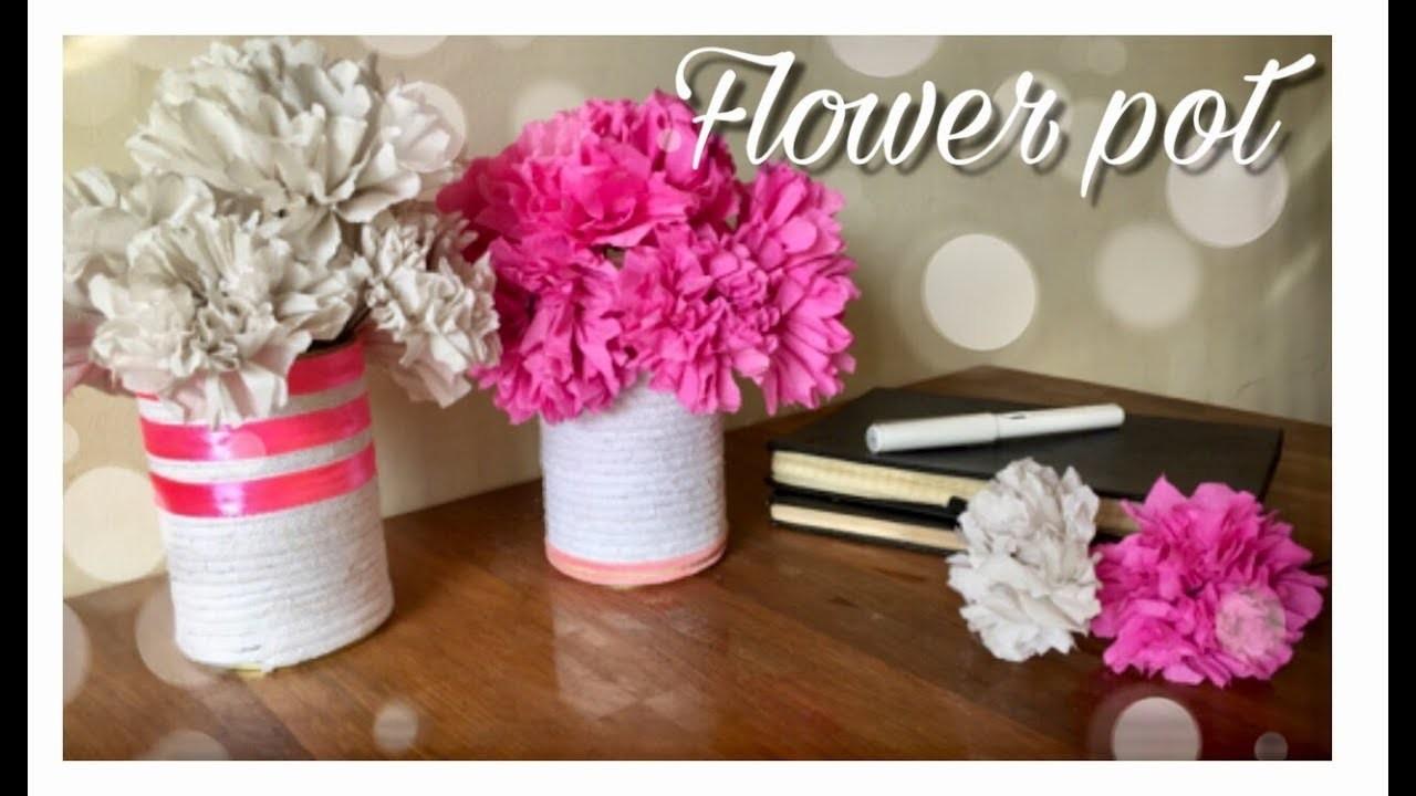 Flower Pot (Best out of waste) | Home Decor | Mass DIY & Craft