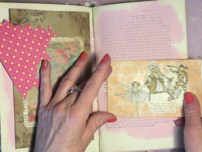 Grab Your Stash Craft with Me Junk Journal altered book Process Video Old Mother Goose Part 2