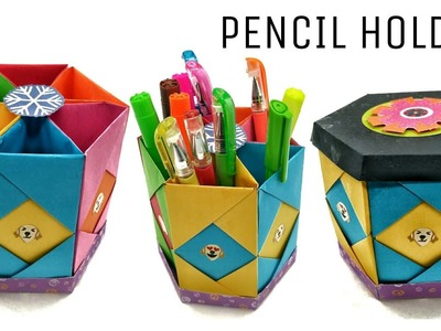 Hexagonal Pencil Holder | Box with Lid - DIY Tutorial - 905