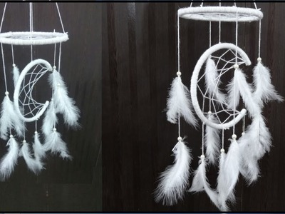 Home Decor: DIY Moon Arc Dream Catcher | Handmade Paper Crafts