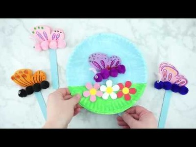 How to Make a Paper Plate Fluttering Butterfly Craft