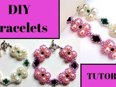 ✅How to make elegant diy bracelets.  ????Easy beading tutorial