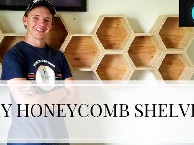 How To make Hexagonal. Honeycomb Shelves