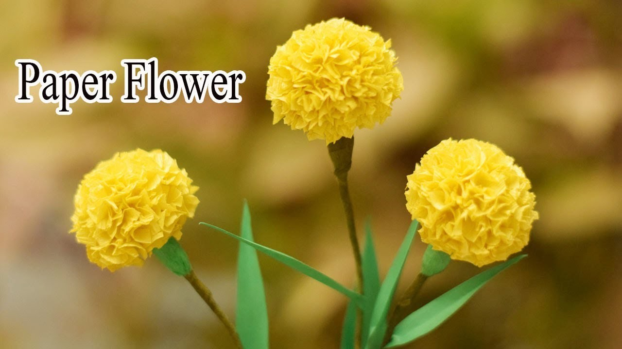 Marigold Flower From Crepe Paper Flowers Healthy