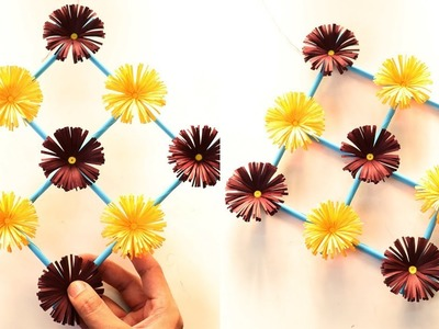 How to Make Paper Flower Wall Hanging – DIY Hanging Flower Tutorial (Wall Decoration Ideas)