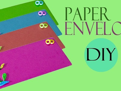 How To Make Paper Quilling Envelope | Handmade Quilled Envelope | Paper Craft | Craft Hacks Video