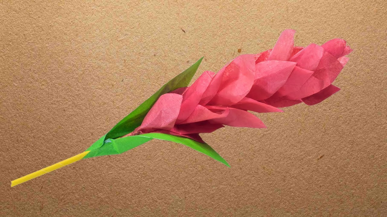 How To Make Red Ginger Paper Flower
