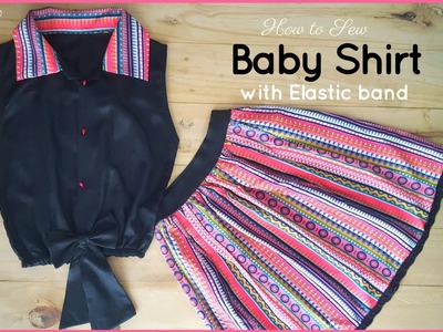 How to Sew: Baby Shirt - Beginners Sewing Lesson 46 | DIY Top with Elastband