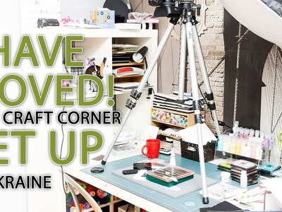 I Have Moved! A Quick Look At My New Craft Corner