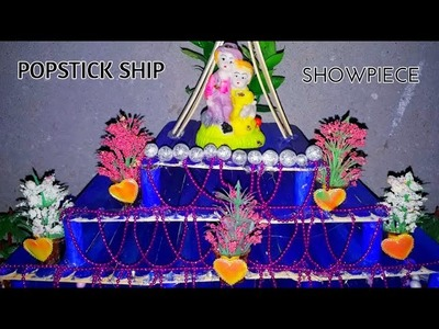 ICECREAM STICK SHIP.Popstick Craft. Amazing showpiece. Ship showpiece
