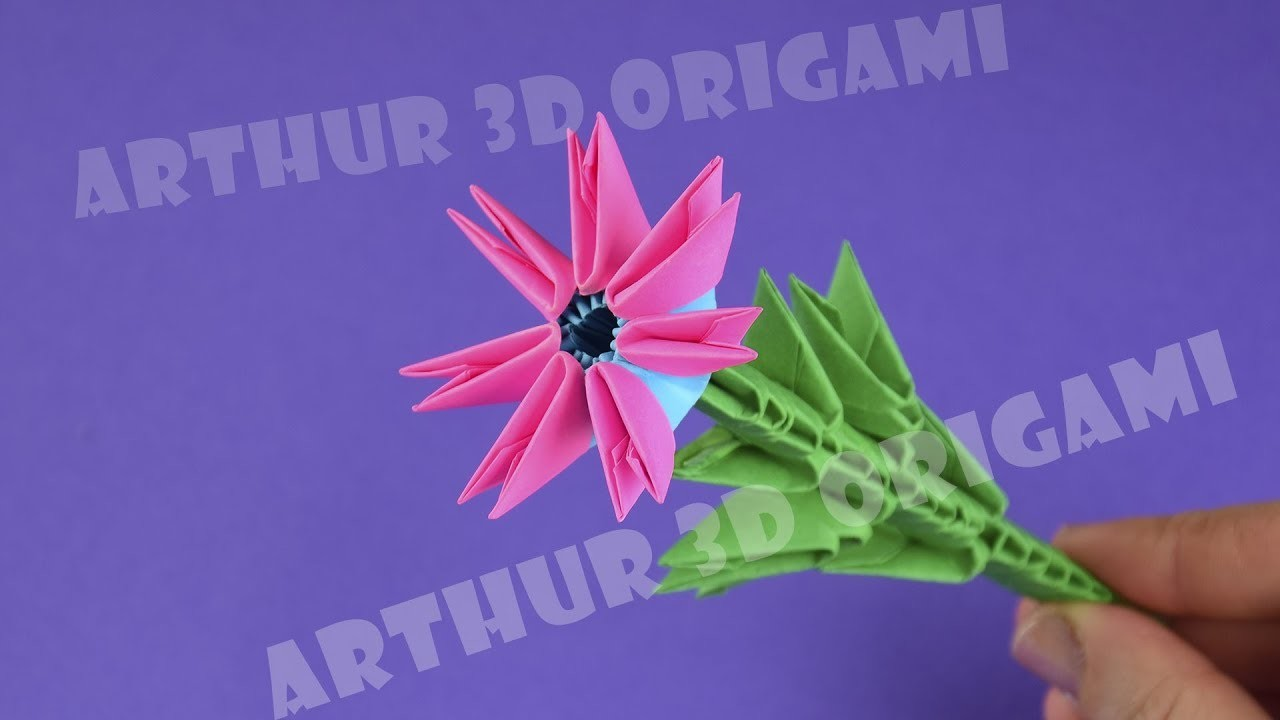 Its A Beautiful Flower Of Paper Just Do It 3d Origami For
