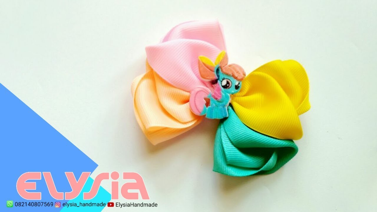 Laço My Little Pony | Cute #Ribbon Bow From My Daughter Toys | DIY by Elysia Handmade