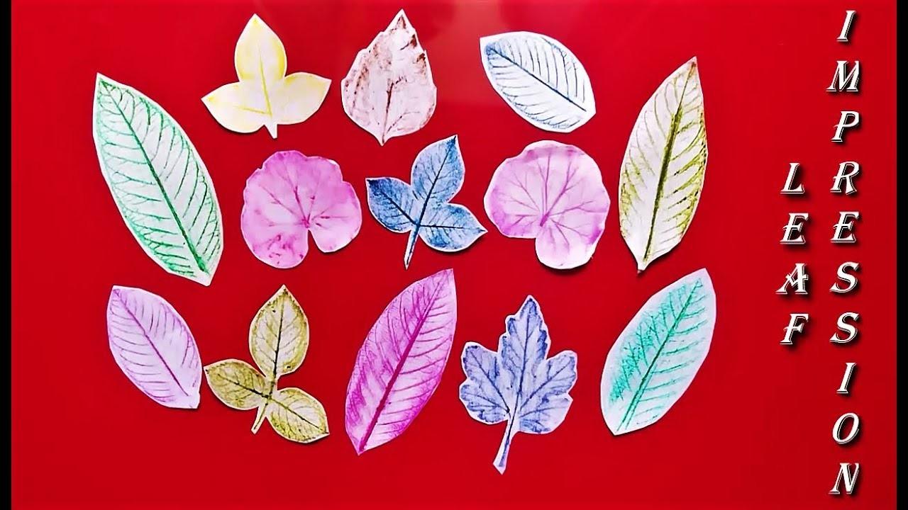 Leaf Impression Art | Easy Leaf Printing for Kids