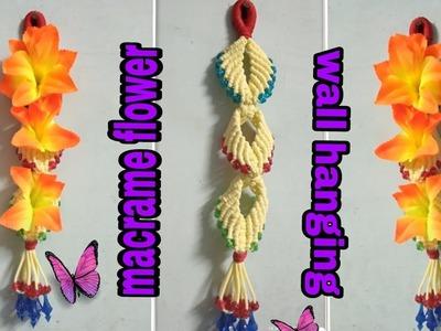 Macrame flower wall hanging easy tutorial diy.