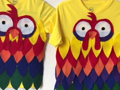 Moana Theme Diy's Part 1 - Hei Hei T-shirt!!