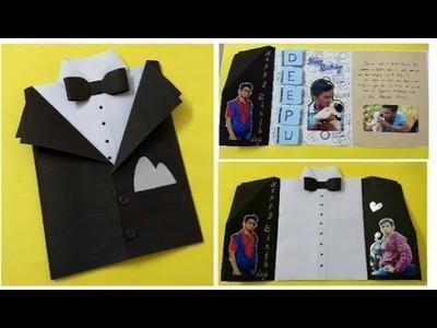 Multi fold DIY suit card idea for Special friend | complete tutorial