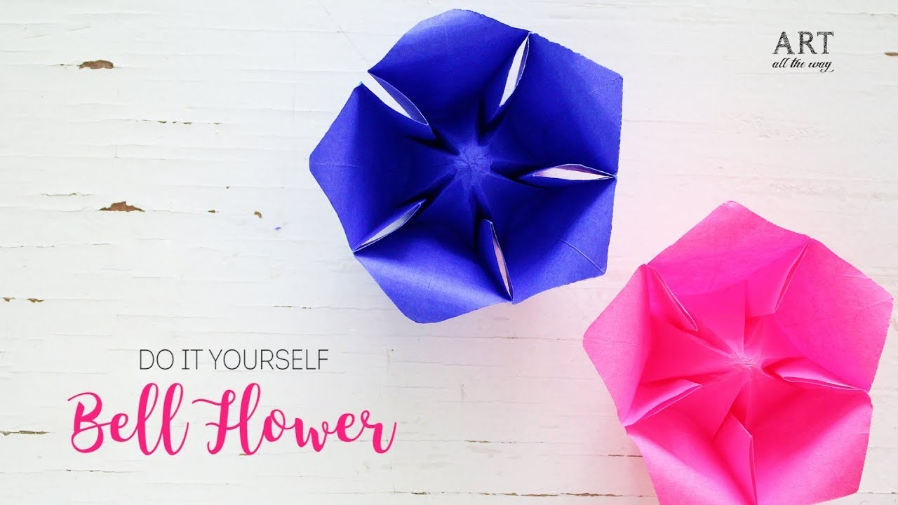 Paper bellflower easy paper flowers diy origami paper bellflower easy paper flowers diy origami mightylinksfo