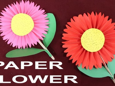 PAPER FLOWER | FLOWER MAKING COMPETITION IN SCHOOL | PAPER CRAFT | FLOWER MAKING | DIY FLOWER