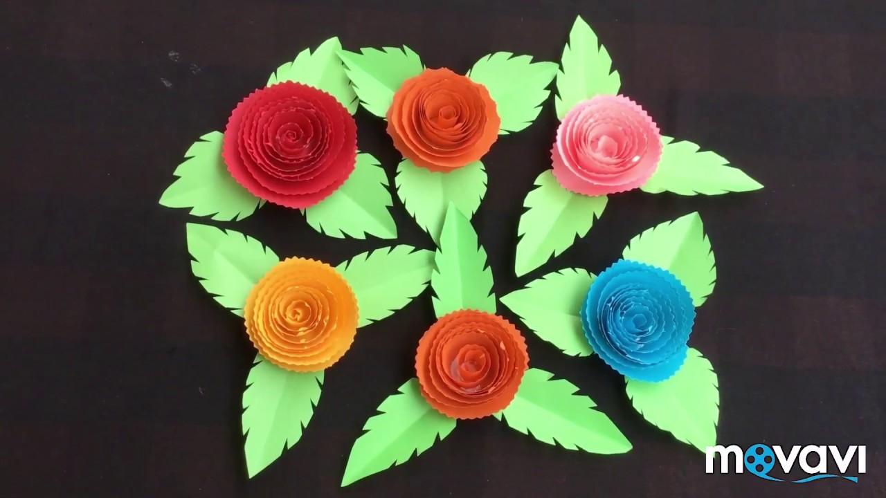 Paper flowers easy diy