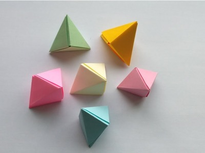 Paper pyramid | Paper triangle | How to make a paper triangle | DIY Crafts