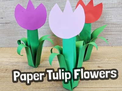 Paper Tulip Craft - very easy to make