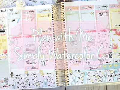 Plan with Me. Simply Watercolor Co