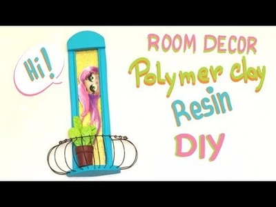 Polymer clay and resin- Tutorial- DIY- Room Decor