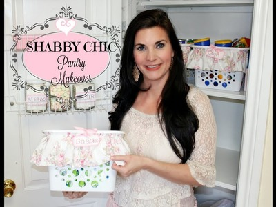 ????SHABBY CHIC???? GLAM PANTRY MAKEOVER~ Dollar Tree organization DIY