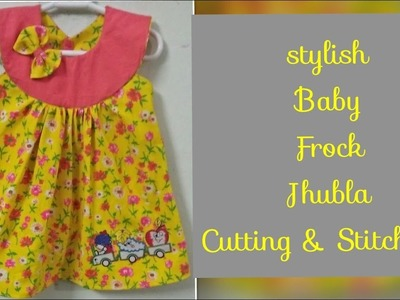 Stylish Baby Cotton Jhabla frock Cutting & Stitching_Easy To make At Home