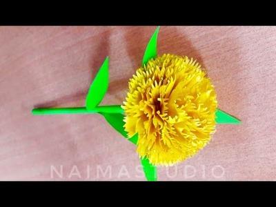 কাগজের ফুল | গাদা ফুল | kagojer ful | gada Flower | DIY Paper Craft : Flower | How to