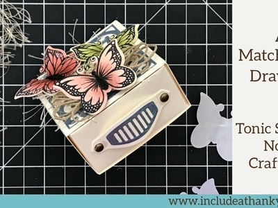 Tonic Studios No.8 Craft Kit 2018 | Project No.2 - A Matchbook! | Metallic Silvers and Deep Blues